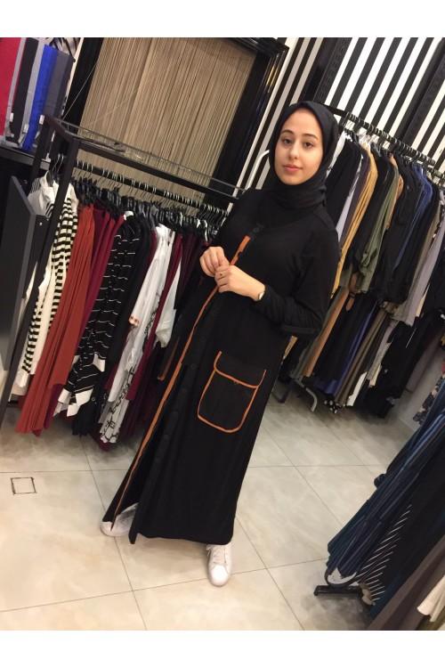 19K1081 Bize Fashion Körük Cepli Kap Siyah