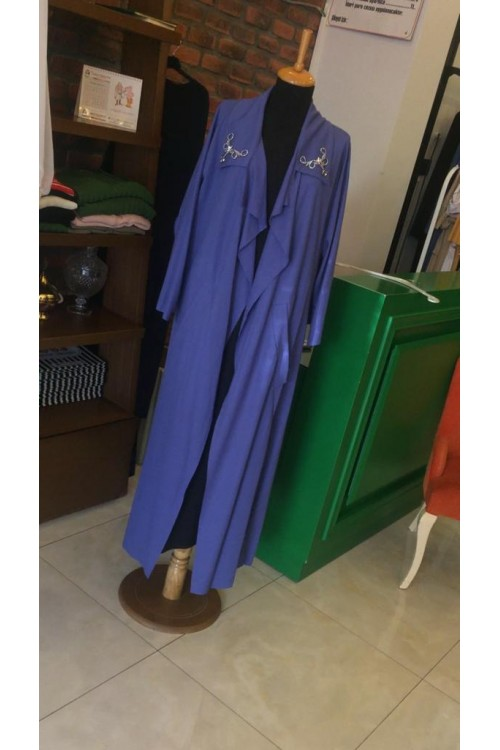 19Y1074 Bize Fashion Yakası Taşlı Kap Saks