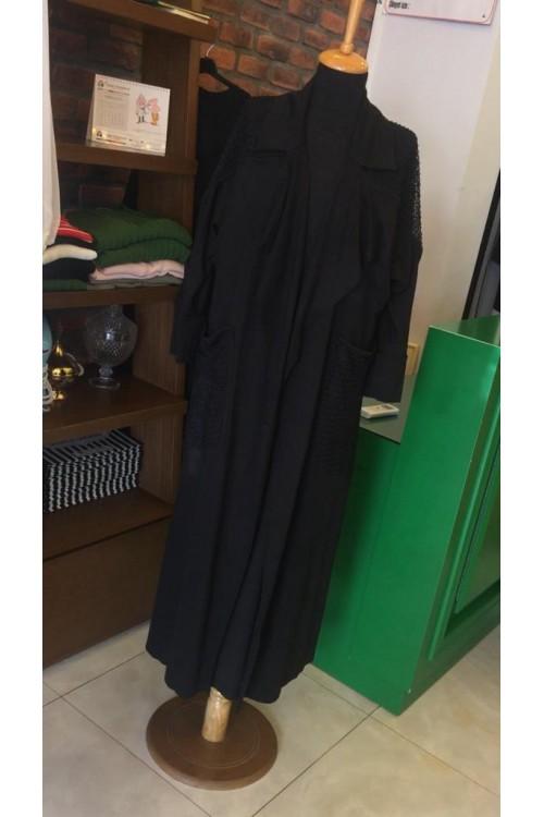 19YZ1069 Bize Fashion Omuzu Fileli Kap Siyah