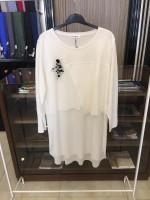 NOS014 Bize Fashion Ön Çapraz Bluz Beyaz