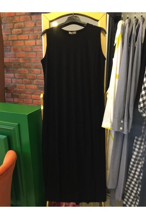 10563 Lal Triko Penye Elbise Siyah