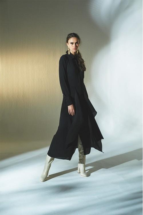 1819018 Latifa Mendel Elbise Siyah