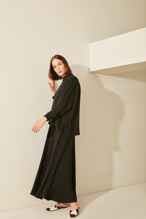 Miori Rose Bluz Siyah