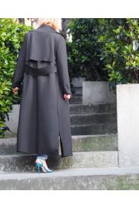 40395 Noi Scuba Arkasi Kemerli̇ Ceket Siyah