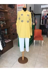 30968 Orgfeo Negro Elişli Gömlek Sarı